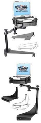 RAM Laptop No Drill Mounts and Bases